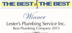 2015 Wake Forest Plumber Winner - Lester's Plumbing Service